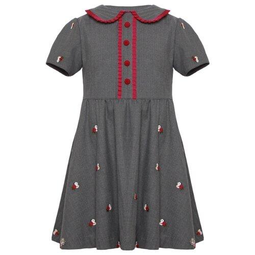 Платье Stefania Pinyagina размер 116, серый