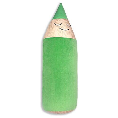 Подушка-валик Штучки, к которым тянутся ручки антистресс Карандаш, зеленый