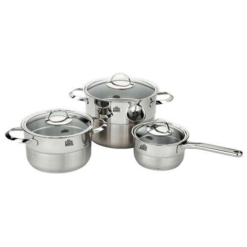 цена Набор посуды Stahlberg Miranda 1737-S 6 пр. серебристый онлайн в 2017 году