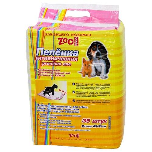Пеленки для собак впитывающие ZooOne Premium One 90х60 см 35 шт.