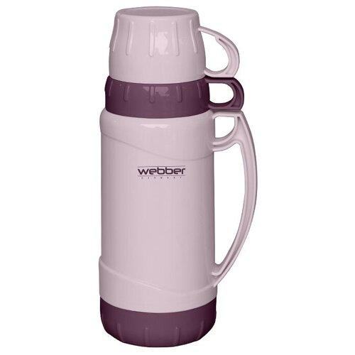 Классический термос Webber 43001, 1.8 л бежевый/сиреневый