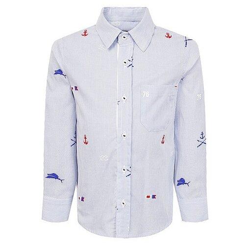 Рубашка Lapin House размер 74, голубой