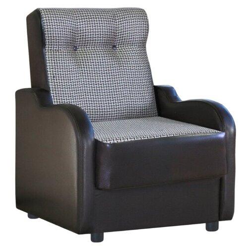 Классическое кресло Шарм-Дизайн Классика В размер: 71х93 см, обивка: комбинированная, цвет: коричневая рогожка