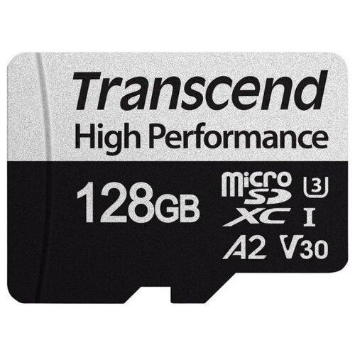Фото - Карта памяти Transcend 330S microSDXC 128Gb UHS-I Cl10 + адаптер, TS128GUSD330S карта памяти sdhc 32gb transcend class10 uhs i