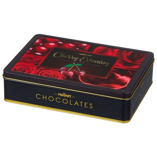 Набор конфет Magnat Cherry Evening пралине с вишневым ликером 201 г набор конфет magnat christmas nuts gold c орехом и ореховым кремом 245 г