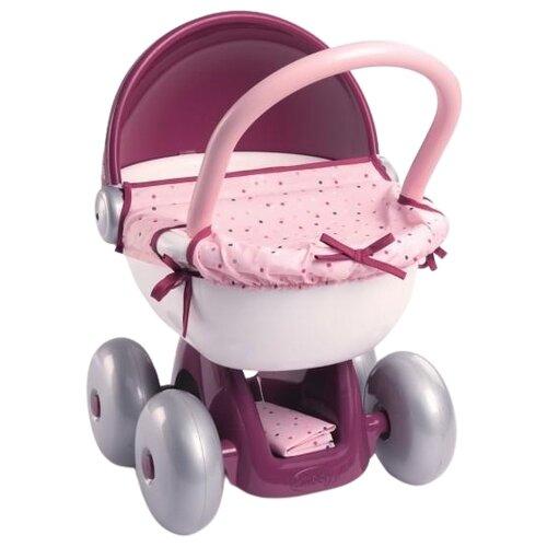 Прогулочная коляска Smoby Baby Nurse 220348 фиолетовый/розовый коляска для кукол smoby baby nurse прогулочная 24063