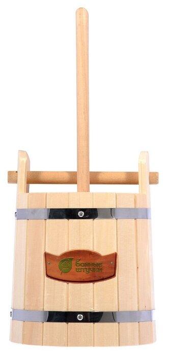Кадка Банные штучки для воды и заготовки солений, липа, 10 л