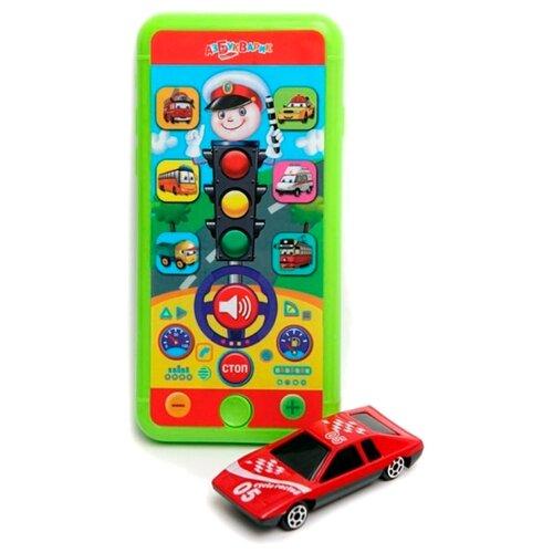 Интерактивная развивающая игрушка Азбукварик Смартфончик Светофор красный/зеленый интерактивная развивающая игрушка азбукварик говорящий смартфончик говорящая зоо азбука