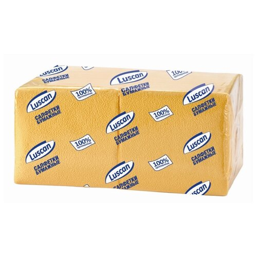 Купить Салфетки бумажные Luscan Profi Pack 1 слой, 24х24 желтые 400шт/уп