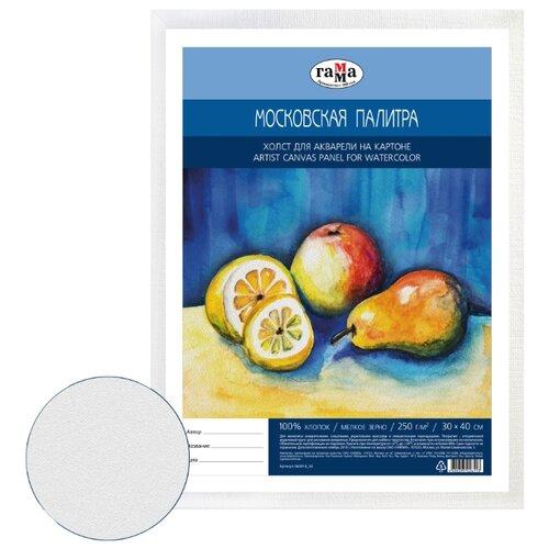 Купить Холст ГАММА Московская палитра на картоне 30х40 см (060918_02), Холсты