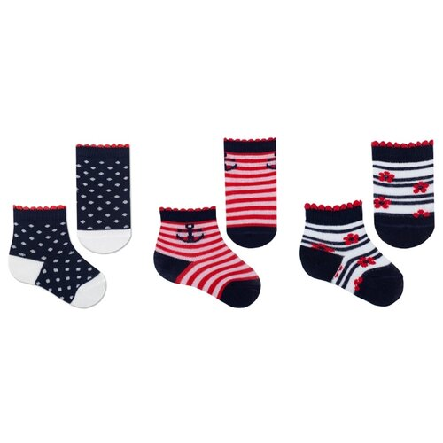Купить Носки НАШЕ комплект из 3 пар, размер 10 (9-10), темно-синий/красный/черный