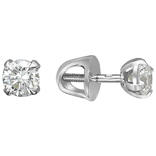 Эстет Серьги с 2 бриллиантами из белого золота 750 пробы 01С6712353 фото
