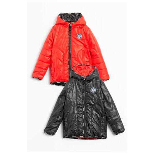 Куртка COCCODRILLO NOW OR NEVER W20152501NOW размер 104, черный/красный куртка утепленная coccodrillo coccodrillo mp002xg00cze