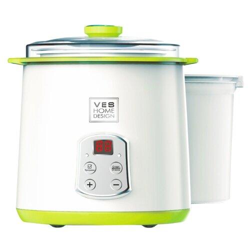Йогуртница VES electric H-270-G белый/зеленый