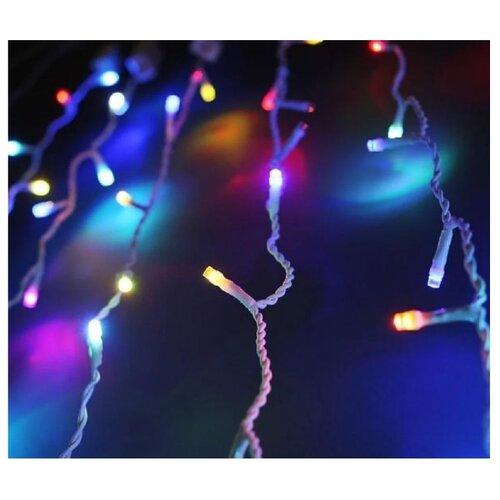 Гирлянда Uniel Занавес ULD-C2030-240/SWK, 300 х 200 см, 240 ламп, разноцветный/белый провод