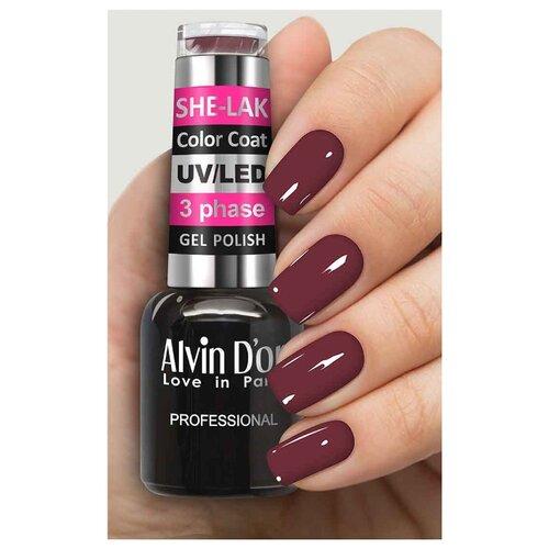 Фото - Гель-лак для ногтей Alvin D'or She-Lak Color Coat, 8 мл, оттенок 3535 гель лак для ногтей cosmoprofi color coat 15 мл оттенок 027