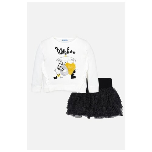 Комплект одежды Mayoral размер 110, белый/черный комплект одежды mayoral размер 110 белый зеленый