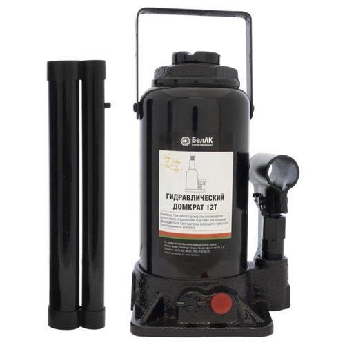Домкрат бутылочный гидравлический БелАвтоКомплект БАК.00033 (12 т) черный