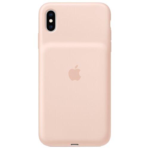 Чехол-аккумулятор Apple Smart Battery Case для Apple iPhone XS Max pink sand чехол аккумулятор для iphone xs apple smart battery case pink sand клип клейс силикон беспроводная зарядка
