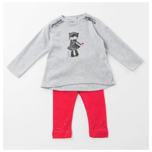 Купить Комплект одежды Sarabanda размер 68, серый/красный, Комплекты