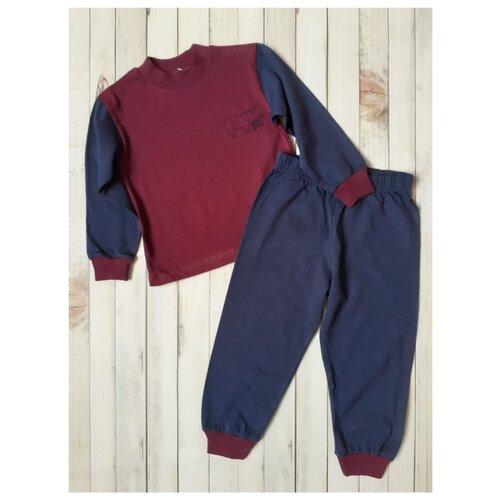 Пижама RobyKris размер 122/128, бордовый/синий