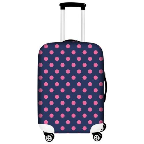 цена Чехол для чемодана Bergmann PerfectSolutions Фиолетовый горох M/L, фиолетовый онлайн в 2017 году
