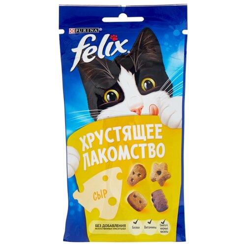 Лакомство для кошек Felix Хрустящее лакомство со вкусом сыра, 60г felix лакомство для кошек felix рыба