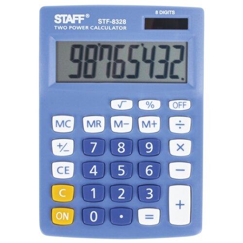 Калькулятор настольный STAFF STF-8328 голубой