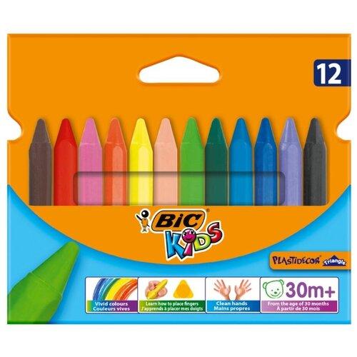 Купить BIC Цветные мелки Plastidecor Triangle 12 цветов (829773), Пастель и мелки