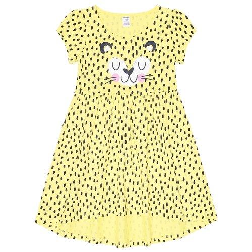 Платье crockid Крапинка размер 104, сочный лимон
