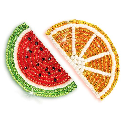 Клеvер Набор для вышивания бисером Модный патч Дольки арбуза и апельсина (АФ 10-081)