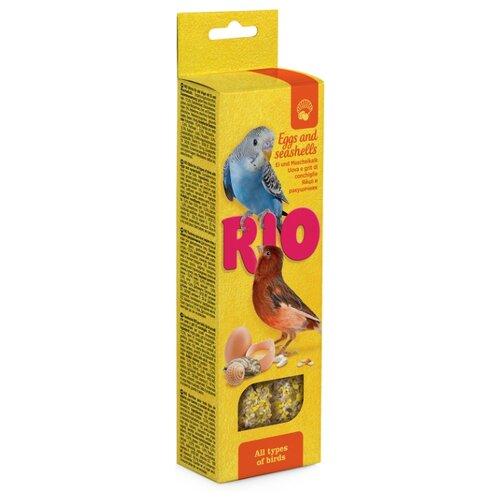 Лакомство для птиц RIO с яйцом и ракушечником 80 г лакомство для всех видов птиц rio сенегальское просо в колосьях 100 г