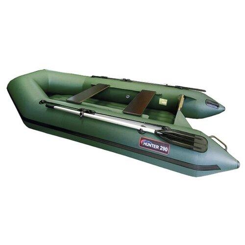 Надувная лодка HUNTERBOAT Хантер 290 Л зеленый надувная лодка leader компакт 200 зеленый