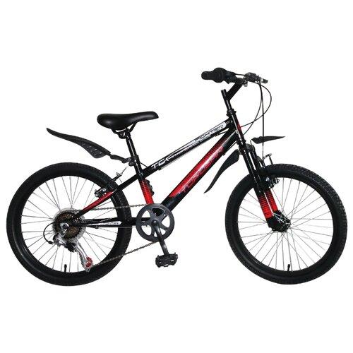 Подростковый горный (MTB) велосипед Top Gear Fighter (ВН20207) черный/красный (требует финальной сборки) top gear велосипед 24 mystic 110 18 скоростей белый вн24058