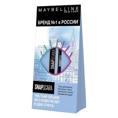 Maybelline New York Набор: тушь для ресниц Snapscara, карандаш для глаз Tattoo liner