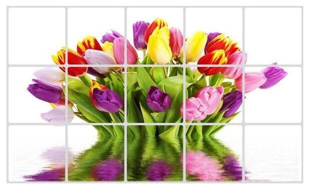 Наклейка на кухонный фартук Great Букет тюльпанов