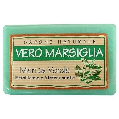 Мыло кусковое Nesti Dante Vero Marsiglia Green Mint, 150 г nesti dante мыло vero marsiglia мед 150 г