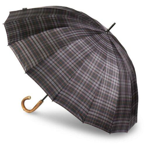 Зонт-трость Bugatti мужской механический DOORMAN CHEK GREY 71762001BU