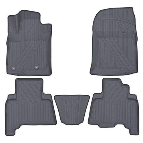 Комплект ковриков KVEST KVESTTYT00002K для Toyota Land Cruiser Prado 5 шт. серый/черный кант