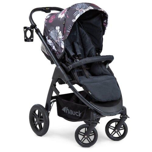 Прогулочная коляска Hauck Saturn R wild blooms black, цвет шасси: черный прогулочная коляска hauck duett 3 melange charcoal