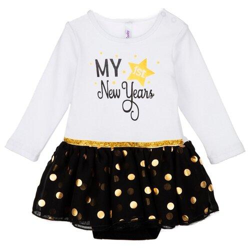 Купить Платье-боди playToday размер 68, белый, Платья и юбки