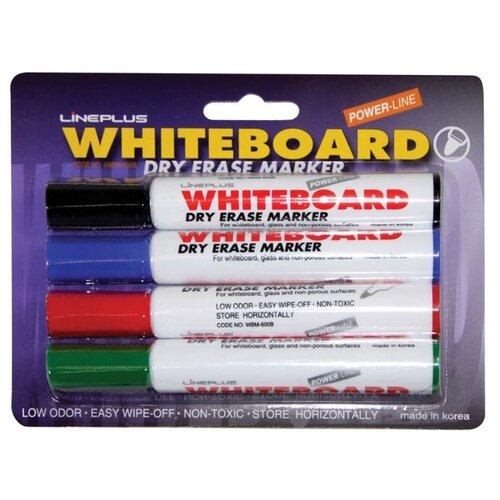 Купить Line Plus Набор маркеров для белой доски, 4 шт. (4WBM-600B), Маркеры