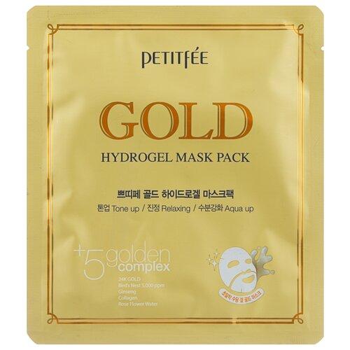 Petitfee Гидрогелевая маска для лица с золотом, 32 г недорого
