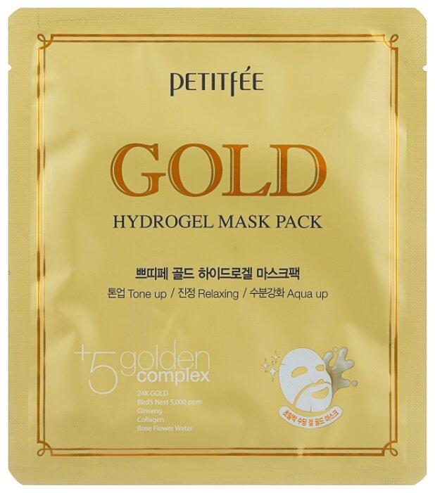 Petitfee Гидрогелевая маска для лица с золотом