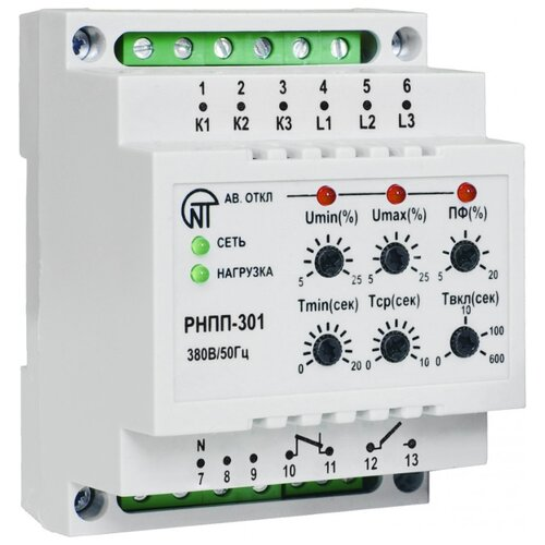 Фото - Реле контроля напряжения Новатек-Электро РНПП-301 реле контроля напряжения новатек электро убз 301 10 100a