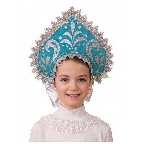 Купить Головной убор Батик Россиянка (5402), голубой/серебристый, Карнавальные костюмы