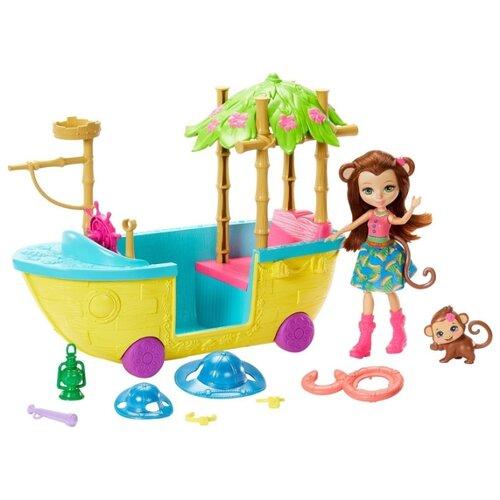 Купить Игровой набор Mattel Enchantimals - Джунгли-лодка GFN58, Игровые наборы и фигурки