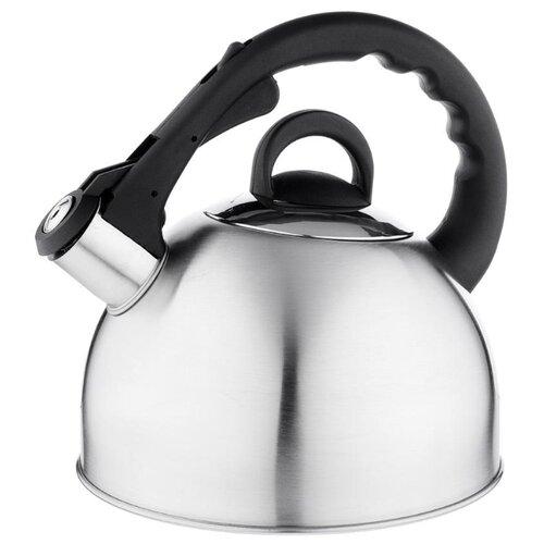 Vetta Чайник RWK-038-3.0L-S 3 л серебристый/черный чайник maestro rainbow mr 1301 серебристый черный 3 5 л