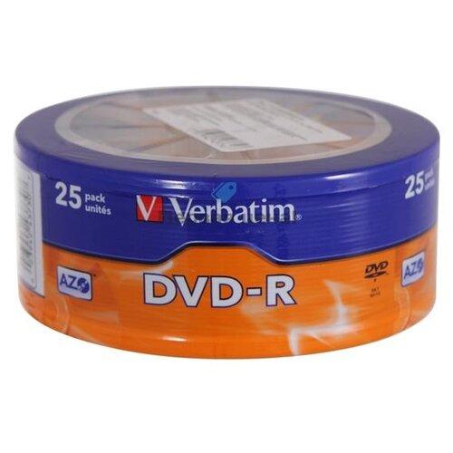 Фото - Диск DVD-R, 4.7 Гб (25 штук) диск verbatim dvd r 4 7gb 16x slim упаковка 20 штук