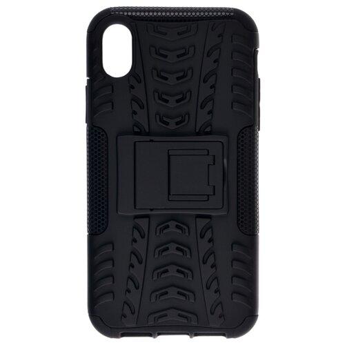 Пластиковый чехол для телефона skinBOX. Defender, для Apple iPhone XR, цвет черный чехол для сотового телефона skinbox lux 4660041407143 черный